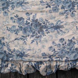VTG Ralph Lauren 100% Linen Duvet Queen Blue Roses